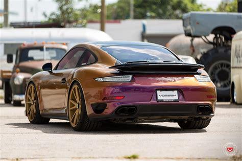 cool car colors color flip porsche 911 turbo on vossen wheels gets a cool