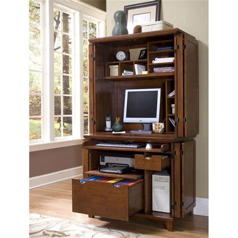 Home Styles Computer Armoire Home Styles Arts Crafts Compact Computer Cabinet Hutch In Cottage Oak Finish Free Shipping