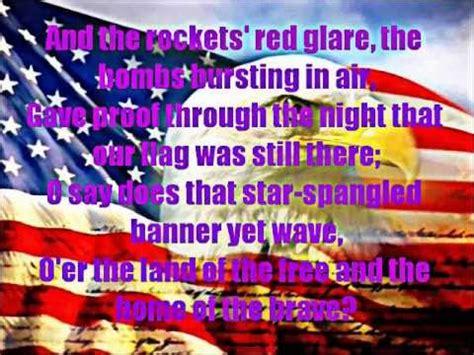 full version national anthem star spangled banner full version with lyrics on screen