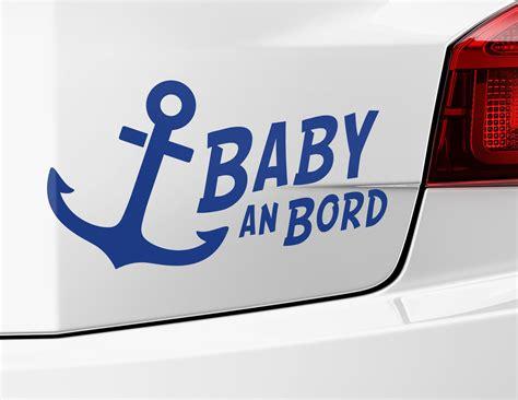 Autoaufkleber Heckscheibe Baby by Autoaufkleber Baby An Bord