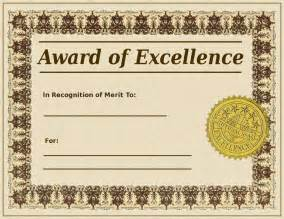 excellence certificate template award of excellence template wikidownload