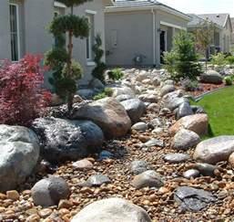 Large River Rock Landscaping Creek Bed Landscaping Garden Streams
