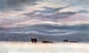 explorer painting free evocative lost paintings of polar explorer who sketched
