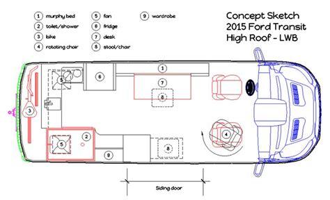 conversion van floor plans 1000 images about diy cer van floor plans on