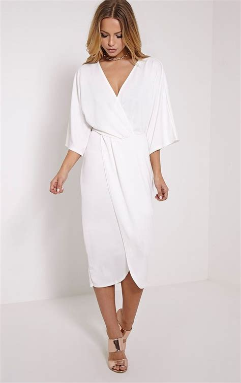 Cape Sleeve Wrap Dress 25 best ideas about white wrap dress on