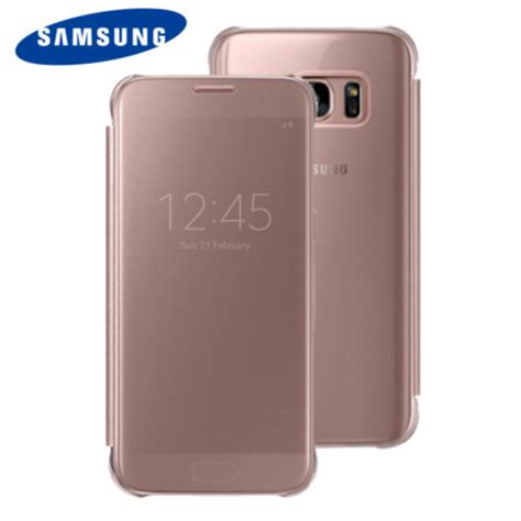 Samsung Clear View Cover S7 Gold by Official Samsung Galaxy S7 Clear View Cover