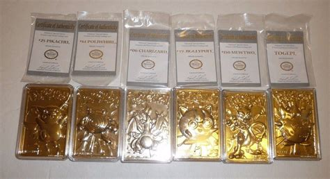 Plated Gift Card - pokemon set of 23k gold plated trading cards burger king with coa s cases what