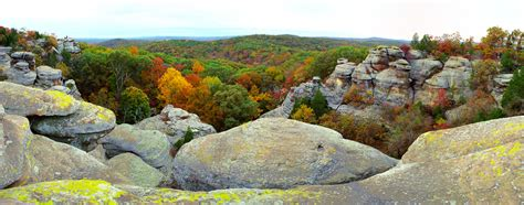 Garden Of The Gods Fall by Garden Of The Gods Shawnee National Forest Il