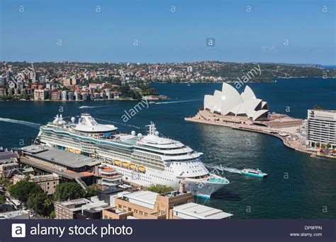 Sydney Harbour with the Radiance of the Seas Cruise ship