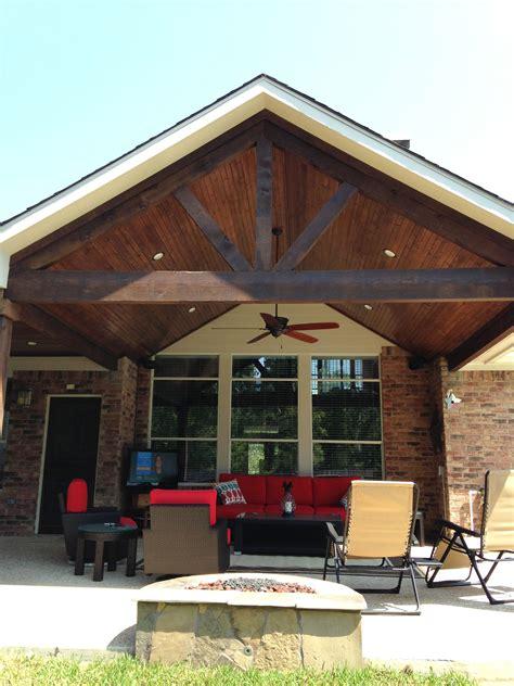 covered patioa framestained cedar beams pools