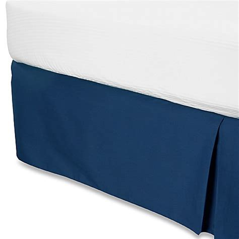 california king bed skirt buy smoothweave 14 inch tailored california king bed skirt in navy from bed bath