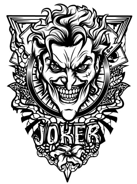 joker tattoo designs black white 1000 ideas about batman joker on joker