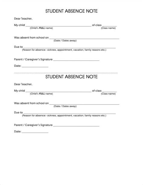 absence note how to make a school note free premium templates