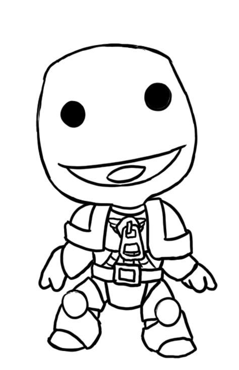 coloring pages little big planet