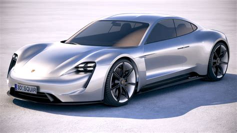 porsche mission e charging porsche mission e 3d model turbosquid 1215252