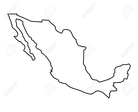 line drawing map mexico printable coloring pages mexico best free