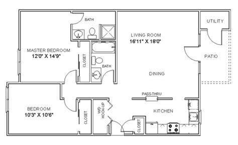 2 bedroom one bath apartment floor plans cheap 2 bedroom apartments 2 bedroom apartment floor plan