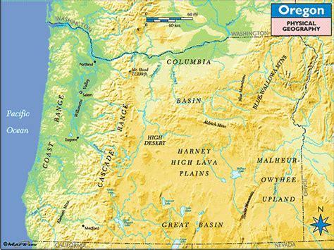 map of oregon landforms oregon geographic map swimnova