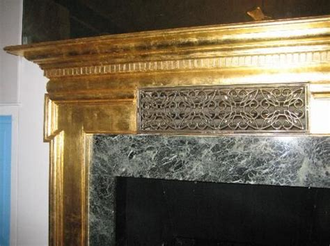 Gold Fireplace by Gold Leaf Fireplace Basement