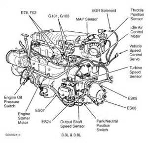 location of egr valve electrical problem 1998 plymouth