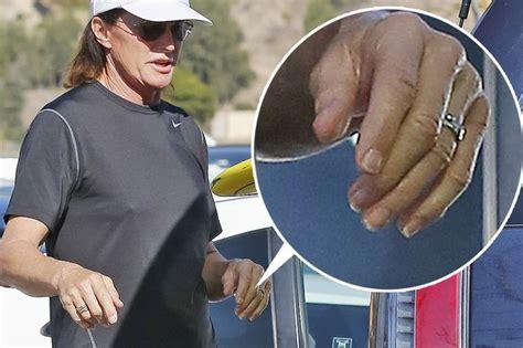 bruce jenner makes style statement with nail polish long hair bruce jenner sex change nails kim kardashian s step