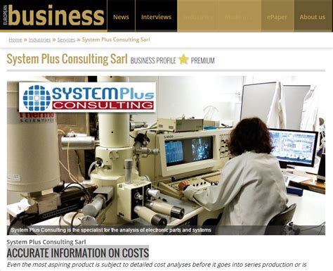 Business System Consultant by System Plus Consulting Sarl Business Profile System Plus Consulting