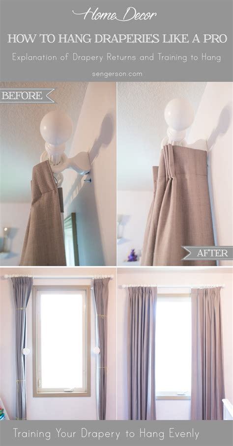 tips for hanging curtains 2 tips on how to hang curtain and drapery like a designer