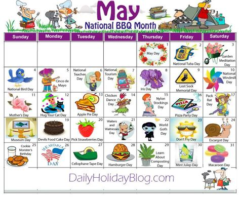 May Daily Holidays Calendar Daycare Calendarholidays | may daily holidays calendar daycare calendar holidays