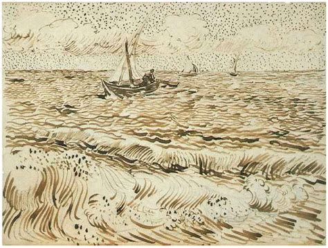 boat fishing techniques sea fishing boat at sea a by vincent van gogh 944 drawing