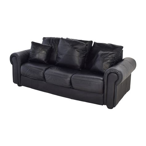 used black leather couch 44 off abc carpet and home abc carpet home black