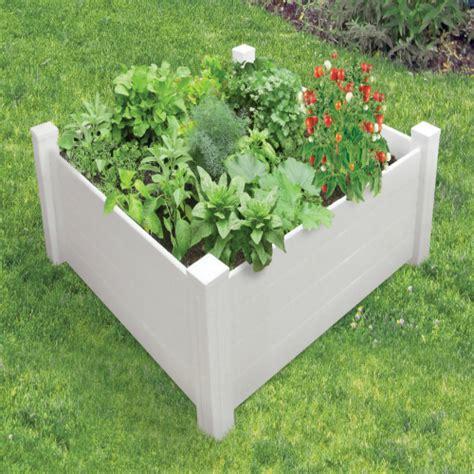 pvc raised garden beds nuvue raised garden bed modular white pvc 4 ft x 4 ft