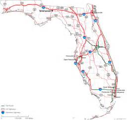 map of florida printable printable map of road map of florida state road map free