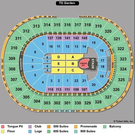 td garden seating chart with seat numbers rolling stones seating chart guide for 50 and counting concert