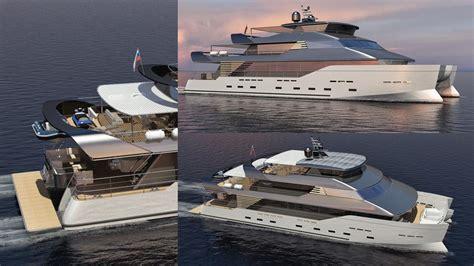 baikal yachts reveals  hybrid catamaran concept boat