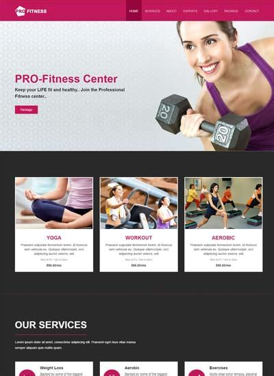 Fitness Center Software 5 by Free Responsive Mobile Website Template