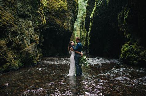 organic riverbed elopement inspiration in oregon