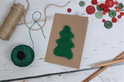 tree sts for card how to knit a tree card hobbycraft