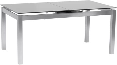 Dining Table Tempered Glass Ivan Gray Tempered Glass Top Extendable Dining Table From Armen Living Coleman Furniture