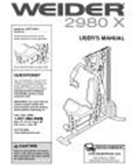 weider 2980 x wesy19380 fitness and exercise