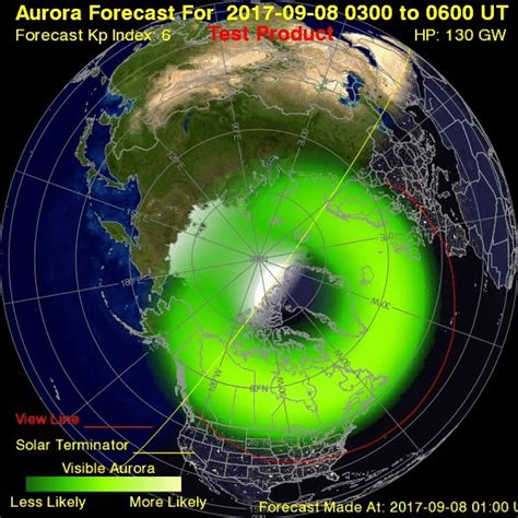 northern lights 2017 prediction northern lights visible across parts of us and europe this