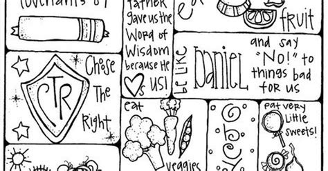 lds coloring pages word of wisdom message family home evening pinterest fhe lessons