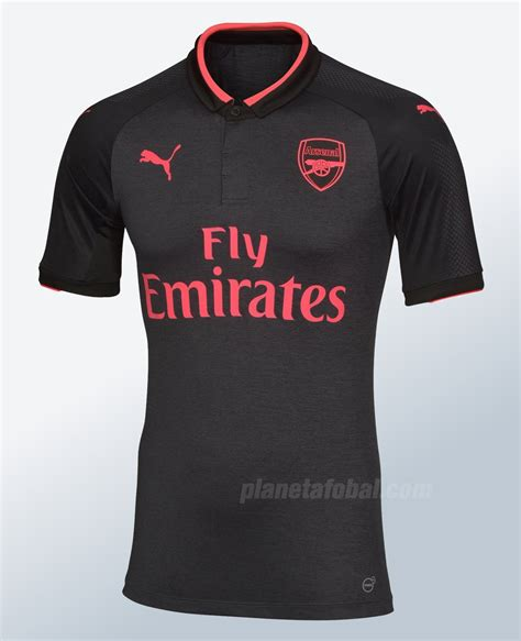 New Jersey Arsenal Away 20172018 tercera camiseta arsenal 2017 2018 planeta fobal