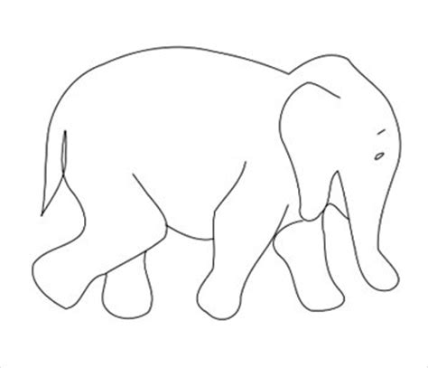 elephant template elephant outlines cliparts co