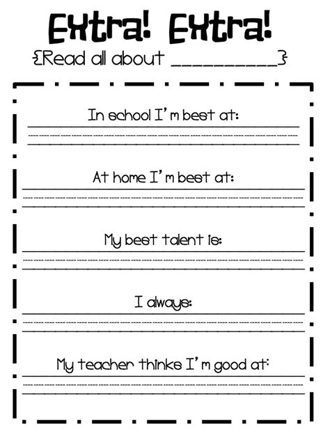 Self Esteem Worksheets For by My Best Activity To Promote Self Esteem School Time