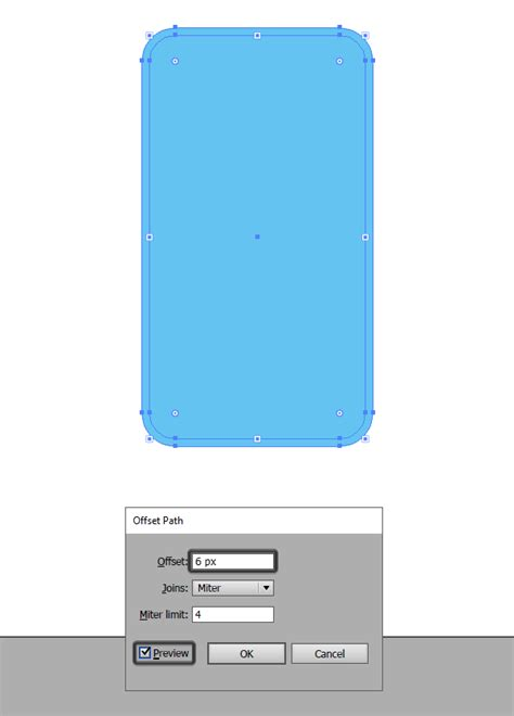 Outline Offset Radius by How To Quickly Create A Phone Character In Adobe Illustrator
