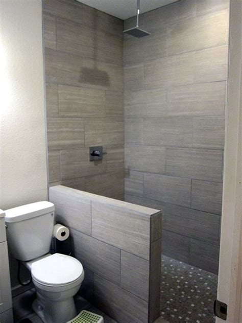 Modern Basement Bathroom Ideas Diy Basement Bathroom Finish Modern Gray Tile Floor To