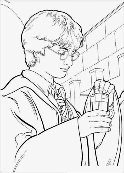 harry potter coloring book finished pages coloring pages harry potter coloring pages free and printable