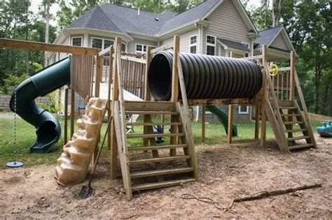 homemade swing set ideas fort playhouse by lastcenturygirl great outdoors