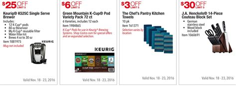 Costco Pre Black Friday Holiday Sale: November 18 ? 23, 2016. Prices Listed.   Frugal Hotspot