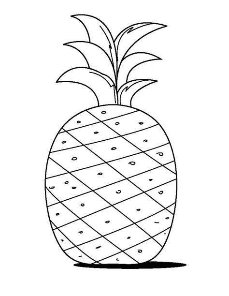 printable pineapple leaves free printable pineapple coloring pages for kids